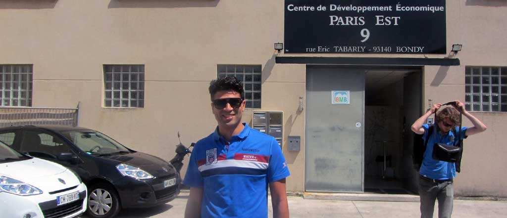 Entrepreneur Youness Bourimech in front of his incubator