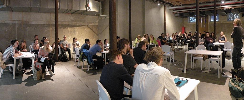 Andrew Bullen addresses the design teams
