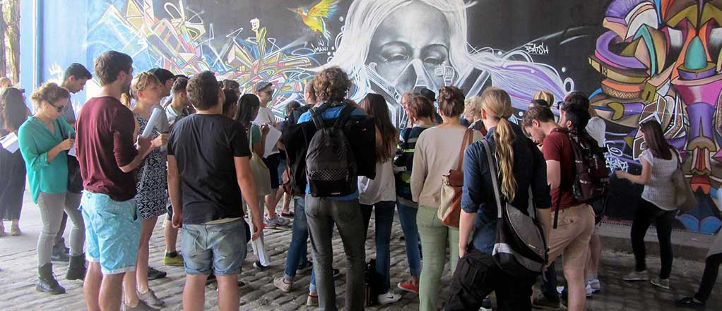 Grafitti is promoted in Bondy as artistic expression and storytelling